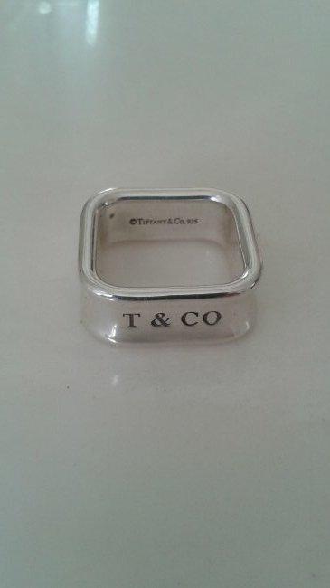 Tiffany & Co RARE Silver 1837 Square Ring Size 6.5
