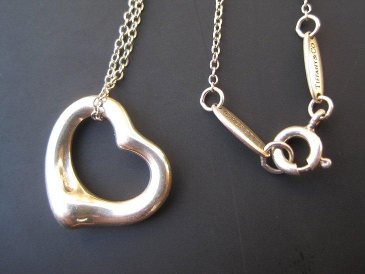Tiffany & Co Elsa Peretti Small Open Heart Pendant