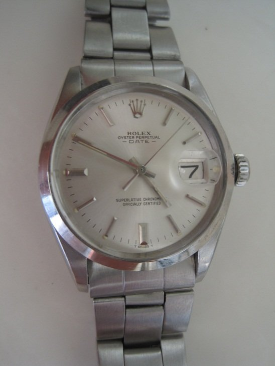Rolex Mens 1500 Oyster Perpetual Date Stainless Steel