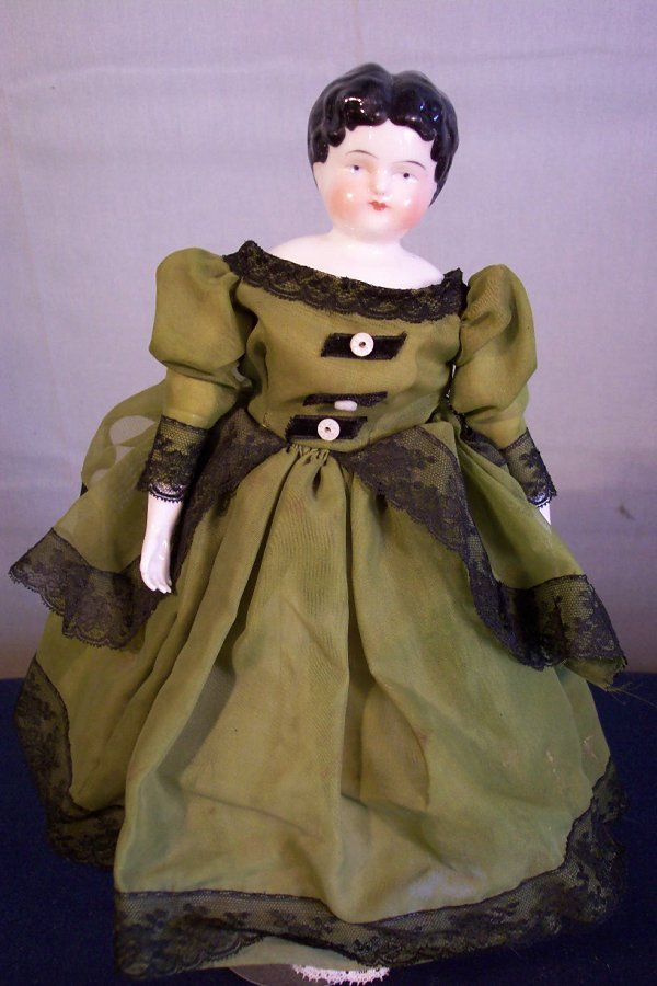 15: China head doll, 12 inch, china hands and feet, clo