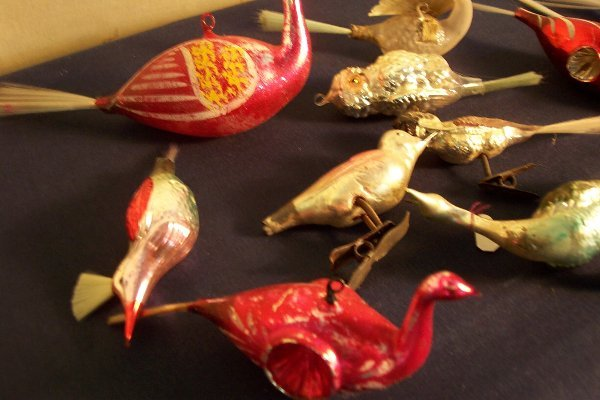 169: Antique and vintage Christmas bird ornaments.  Lot - 3