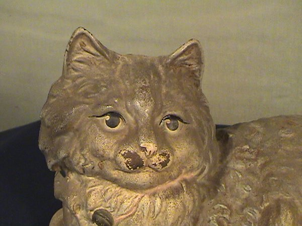 203: Hubley cast cat, kitty, marked inside, 10 inches l