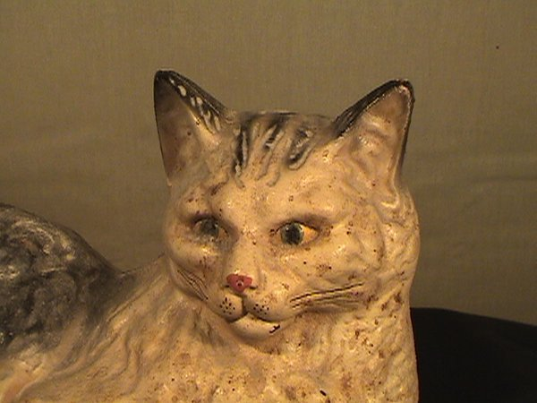 204: Cast cat door stop, Hubley style but age and maker