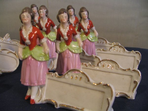 372: Germany Victorian place card holders, 2 sets of si