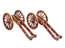 A PAIR OF NORTH EUROPEAN SALUTING CANNON CARRIAGES,