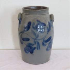 R.W. Russell, Beaver Pa. decorated 6 gal. stoneware jar