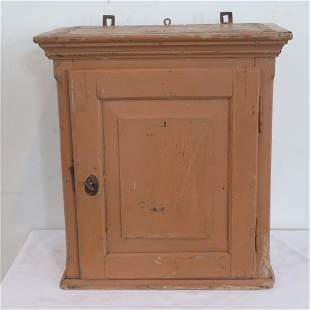 Dovetailed case painted hanging cupboard