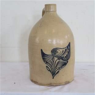 Early stoneware 2 gal jug signed Whites, Utica, NY