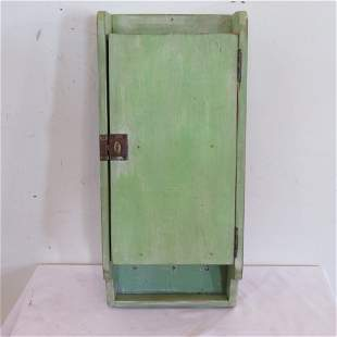 Green painted hanging cabinet
