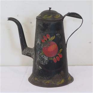 Early toleware coffee pot