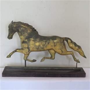"19th century gilded horse weathervane ""Smuggler"""