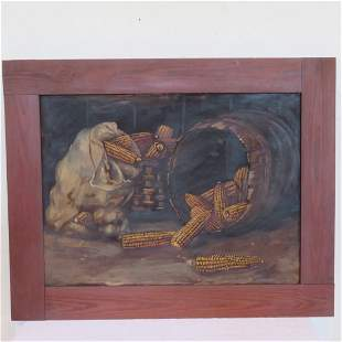 Alfred Montgomery corn painting (1857-1922) unsigned