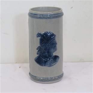 Old Sleepy Eye cattail vase