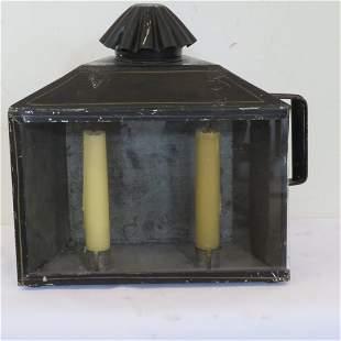 Tin candle lantern signed Boston