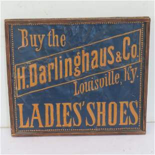 Late 19th century tin advertising sign