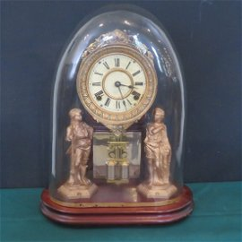 American Ansonia Crystal Palace mantle clock