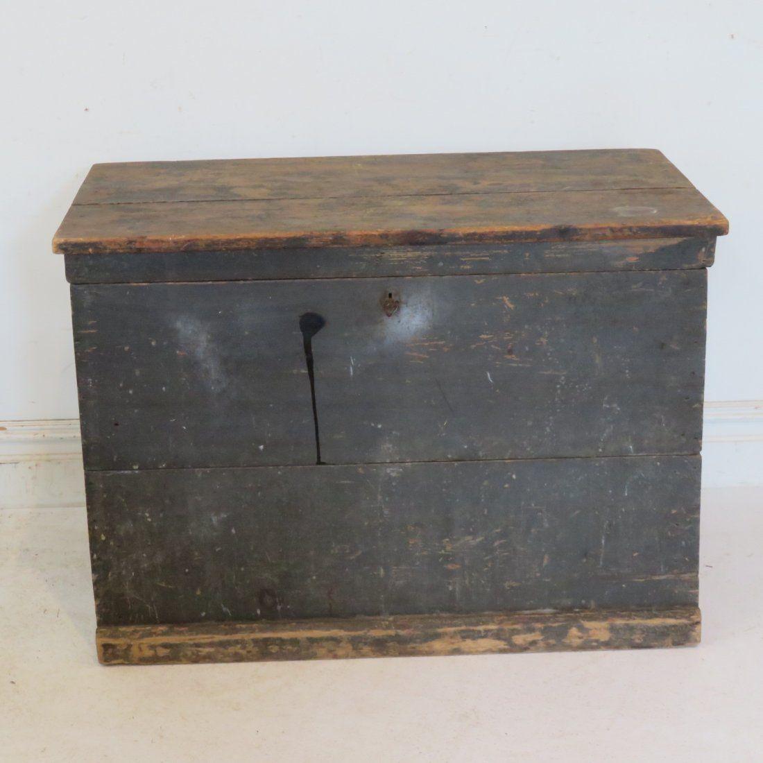 Pine blanket box in old sage green