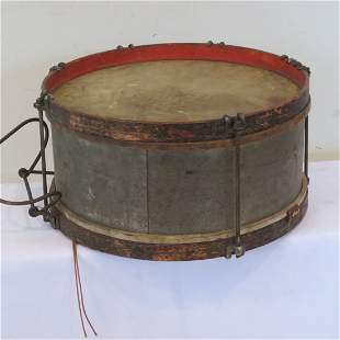 Late 19th early 20th century snare drum
