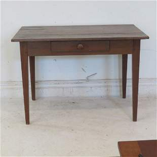Country work table with a drawer