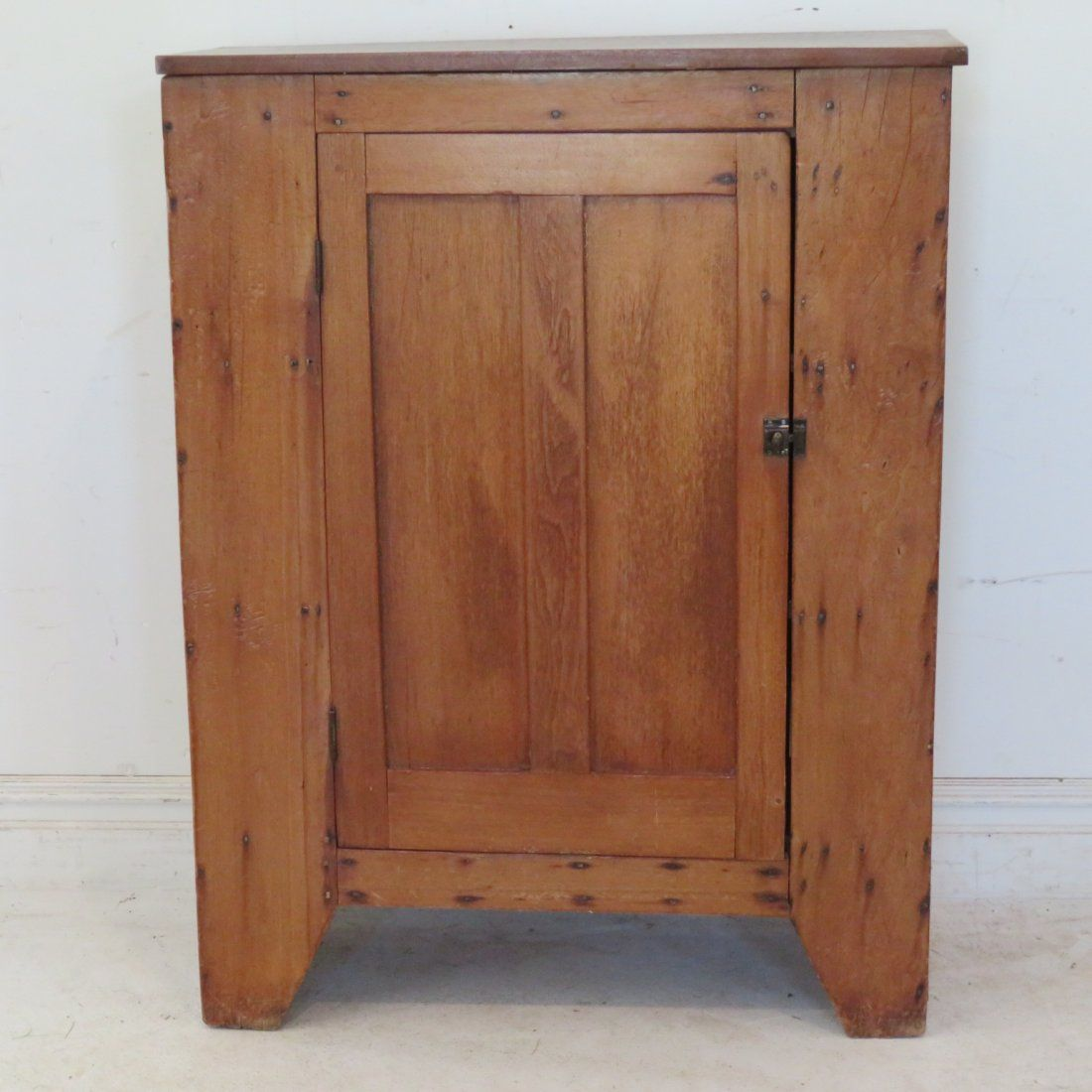 Early walnut single door jelly cupboard