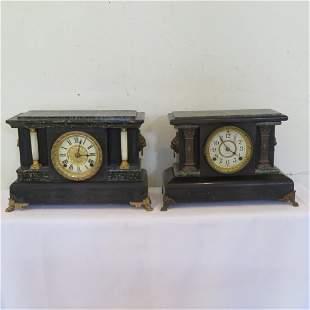 2 Seth Thomas black mantle clocks