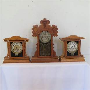 American Ingraham kitchen mantle clocks