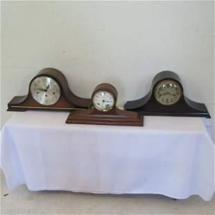 3 camelback mantle clocks