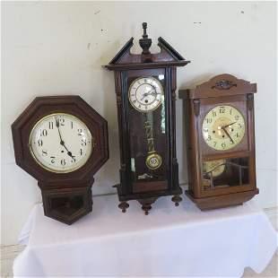 3 wall clocks