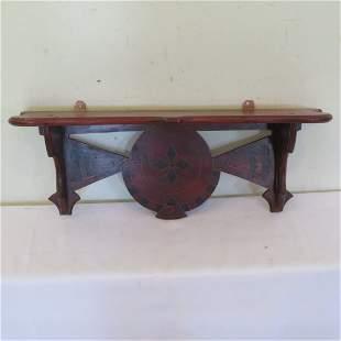 Victorian walnut clock shelf