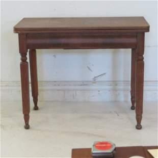 Walnut game table circa 1850