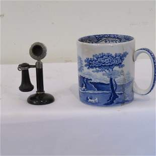 Miniature candlestick telephone circa 1915