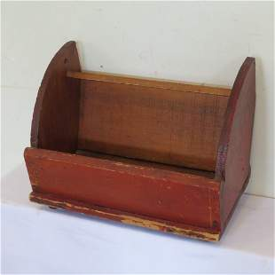 Magazine box in original red paint