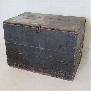 Pine 18th century primitive blanket box