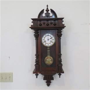 German walnut Vienna type Regulator wall clock