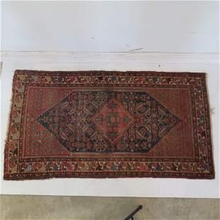 Semi-antique Hamadan oriental rug