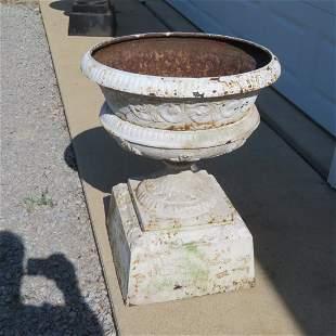 Cast iron 4 pc. Victorian garden urn