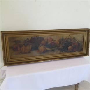Circa 1900 O/C still life painting