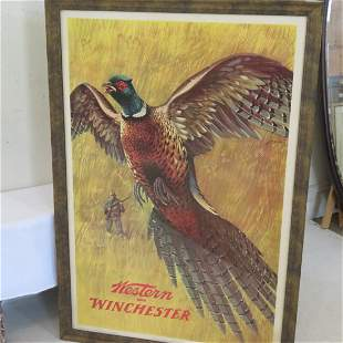 Ca. 1955 Western-Winchester advertising lithograph