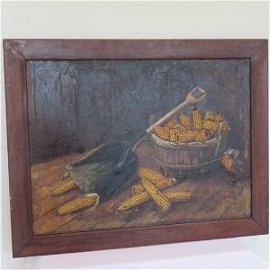 Alfred Montgomery corn painting (1857-1922) signed