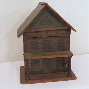 Bliss type lithograph wood dollhouse