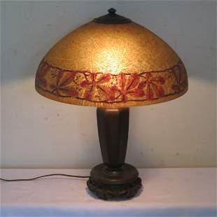 Handel reverse painted shade table lamp