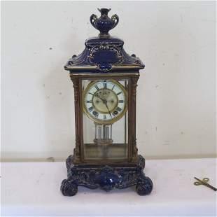 American Ansonia Crystal Regulator clock
