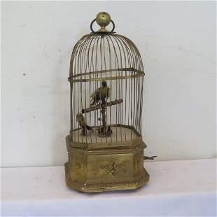 French or German clockworks birdcage