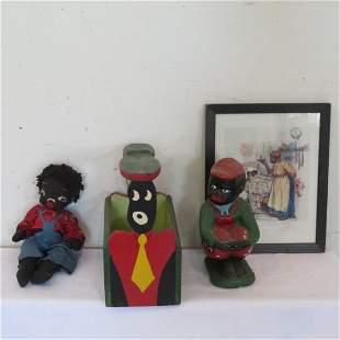 4 pcs of black memorabilia
