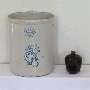 8 gallon stoneware crock and .1/2 gal chicken waterer