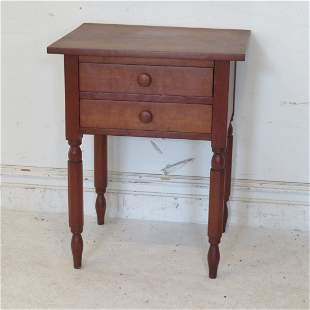 Cherry 2 dovetailed drawer stand table