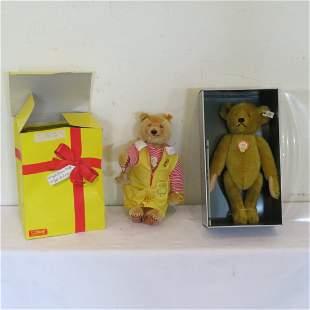 "Steiff 13"" Dicky clowns around bear and 14"" Petsy bear"