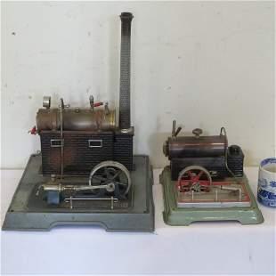 2 German toy steam engines