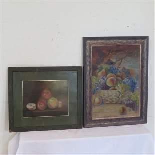2 still life paintings