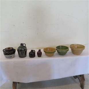 7 pcs of pottery